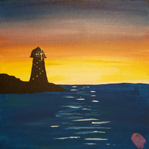 8x8 Lighthouse Painting