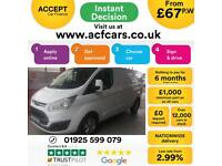2017 WHITE FORD TRANSIT CUSTOM 2.0 TDCI LIMITED 290 LWB VAN CAR FINANCE FR £67PW