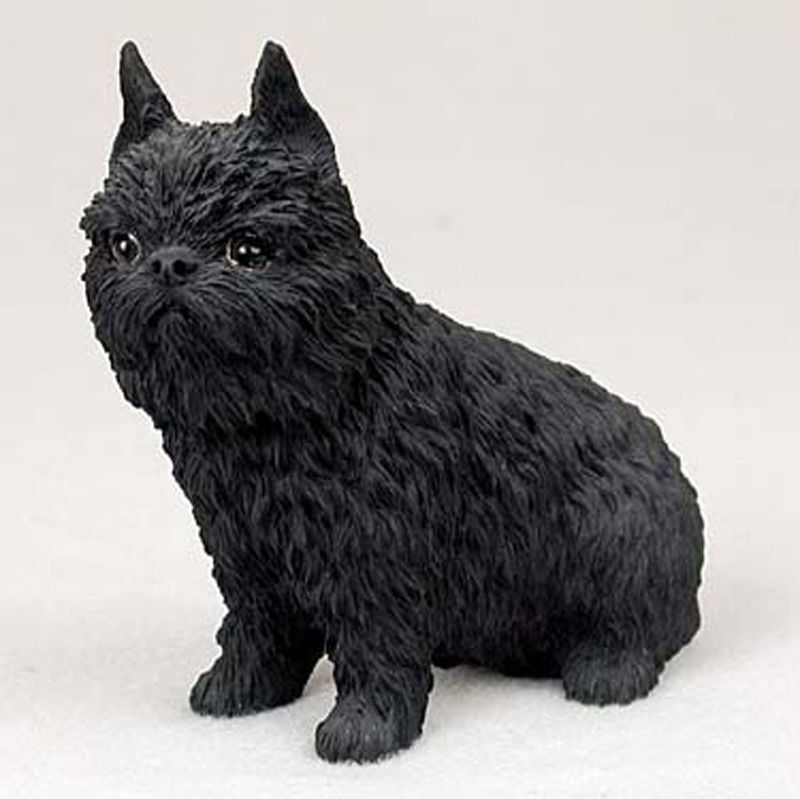 Brussels Griffon Figurine Hand Painted Collectible Statue