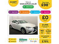 Lexus IS Executive Edition FROM £98 PER WEEK!