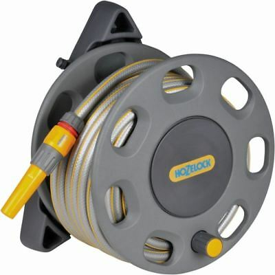 Hozelock Wall Mounted Compact Garden Reel With 15m Hose Watering kit 2422