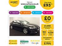 Black AUDI A6 SALOON 2.0 3.0 TDI Diesel SPORTS LINE FROM £93 PER WEEK!