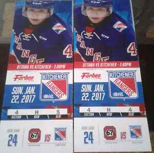 Kitchener ranger tickets sun Jan 22