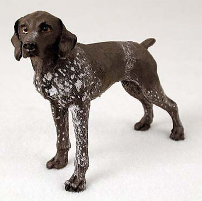 German Shorthair Pointer Hand Painted Collectible Dog Figurine
