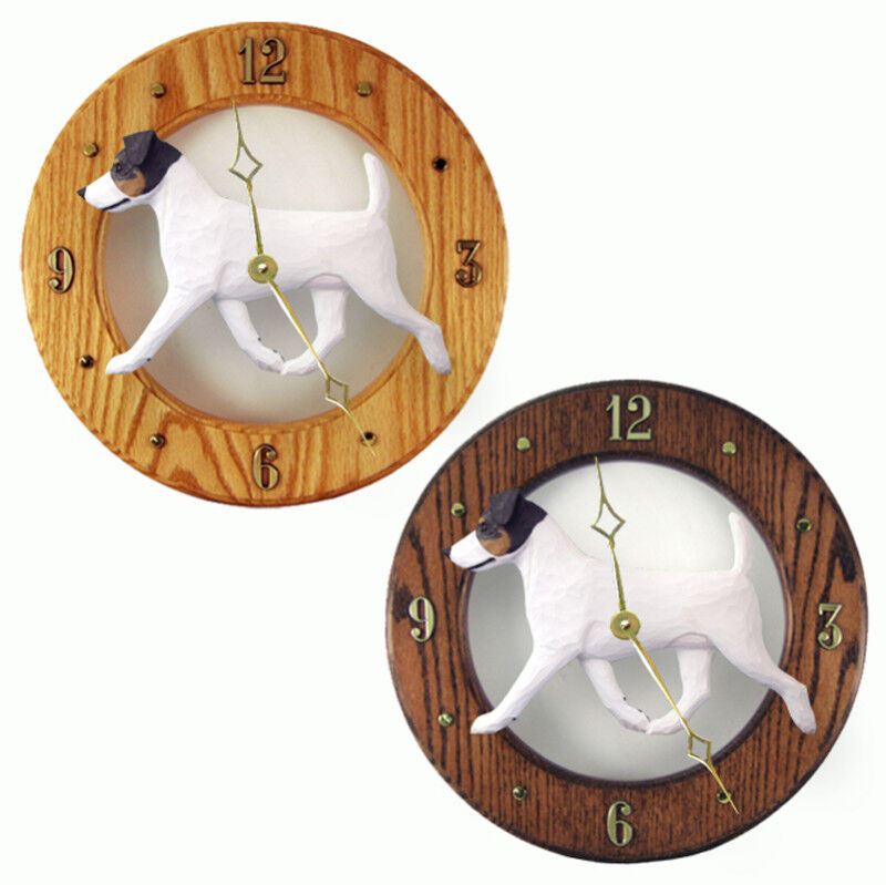 Jack Russell Terrier Wood Clock Tri