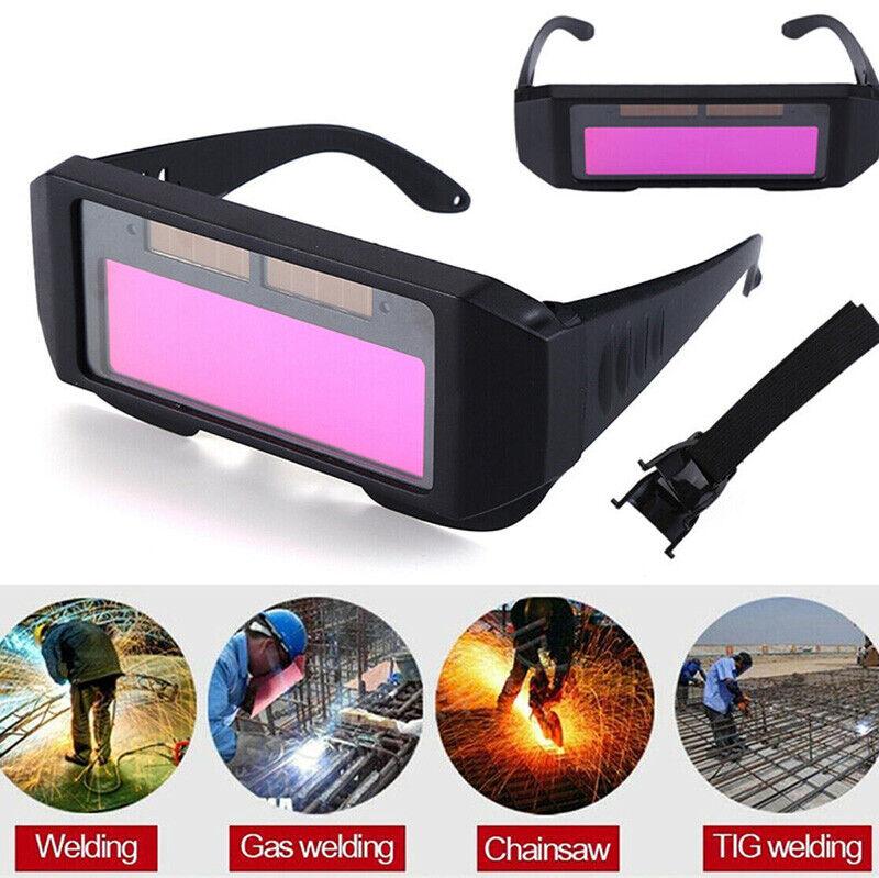 Solar Powered Welding Eye Goggles Helmets Anti Glare Auto Darkening Glasses Gear