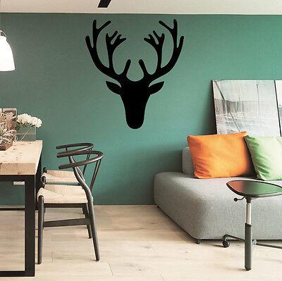 Wall Decal Antler Deer Decal Hunting Sticker Rustic Nursery Boy Room - Hunting Nursery Decor