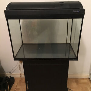 30 gallon fish tank with stand and storage