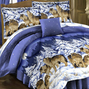 Midnight Wolves 6pc Bed Set - Full, NEW