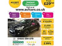 2014 BLACK CITROEN DS3 1.6 E-HDI 115 AIRDREAM DSPORT PINK CAR FINANCE FR £29 PW