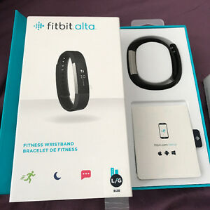 FITBIT ALTA LARGE BLACK + LARGE PURPLE WRIST BAND NEW! PRICE OBO