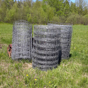 Page wire fence, 4 feet tall, 9 strands, approximately 500 feet