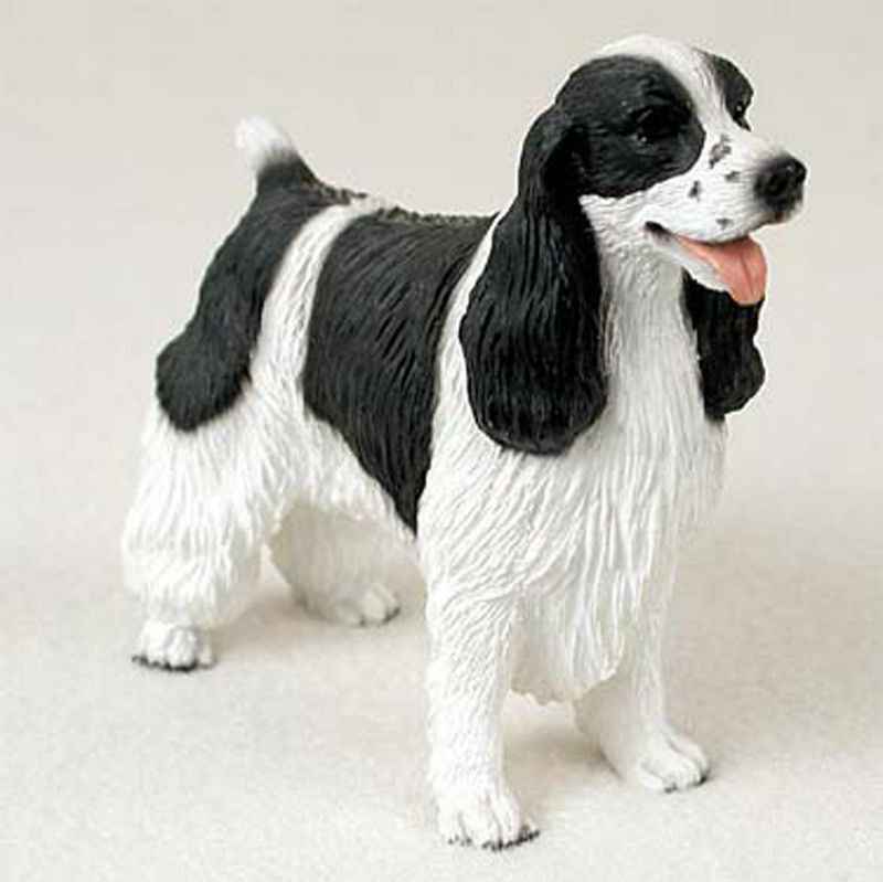 Springer Spaniel Figurine Hand Painted Statue