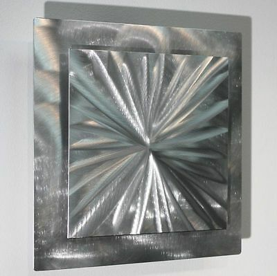 Statements2000 Abstract Silver Metal Wall Art Accent Sculpture Jon Allen Prizm3