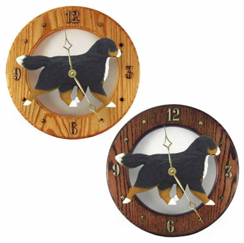 Bernese Mountain Dog Wood Clock