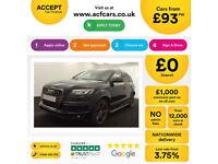 Black AUDI Q7 3.0 TDI Diesel QUATTRO S LINE FROM £93 PER WEEK!