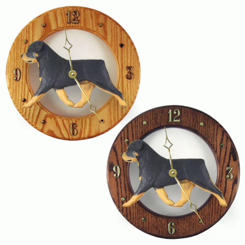 Rottweiler Wood Clock