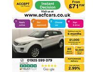 2015 WHITE RANGE ROVER EVOQUE 2.2 ED4 150 PURE 2WD CAR FINANCE FR £71 PW