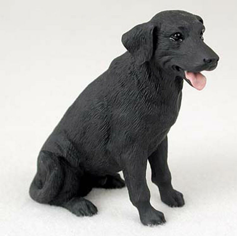 Black Lab Figurine Hand Painted Collectible Statue