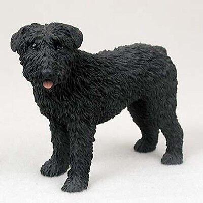 Bouvier Hand Painted Collectible Dog Figurine Statue Uncropped