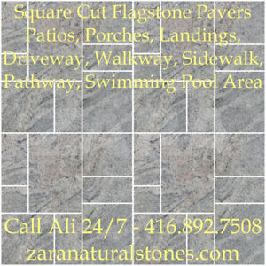 Paradiso Square Cut Flagstone Indian Stone Patio Flagstone Grani
