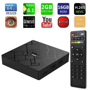 TV Box boite HK1 mini Android 8.1 2GB 16GB Quad Core WiFi HD 4K