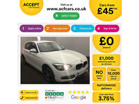 White BMW 114d 1.6 2014 74mpg 5 door Alloys Sport FROM £45 PER WEEK!