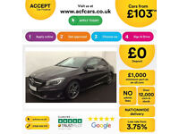 BLACK MERCEDES-BENZ CLA 220 200 180  CDI AMG LINE AUTO SPORT FROM £103 PER WEEK