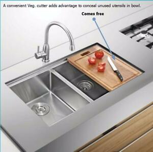 Undermount Sink | Hand Crafted | 16 Gauge| with Free Grids and Basket strainers| Plenty of Designs & Sizes