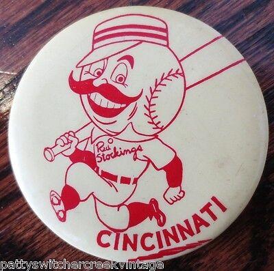 Vintage Pinback-RED STOCKINGS-CINCINNATI REDS Baseball