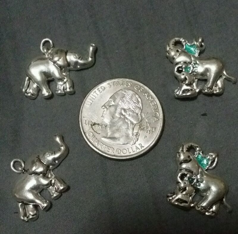 Sterling silver elephant charm collection circus
