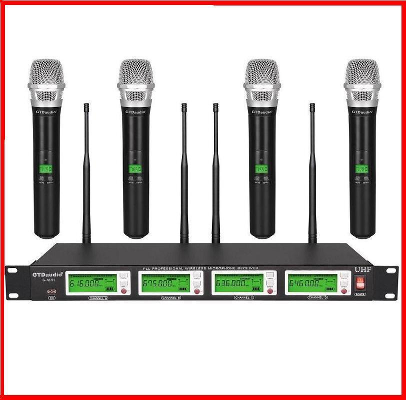 gtd audio 4x800 channel uhf diversity wireless handheld microphone mic system 609132514722 ebay. Black Bedroom Furniture Sets. Home Design Ideas