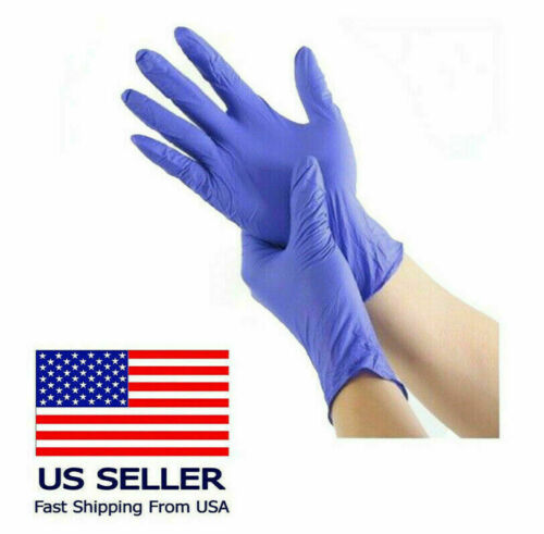 Nitrile Gloves - Latex Free & Powder Free Blue 10 to 1000 Count