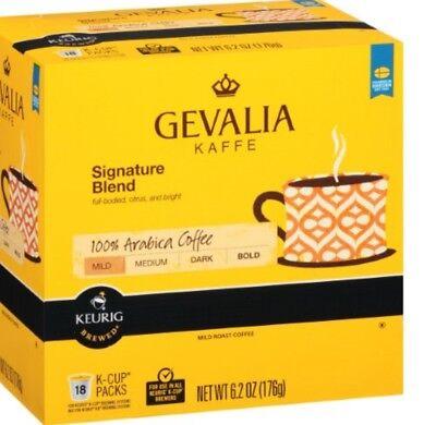 Gevalia Mild Coffee (Gevalia Kaffe Signature Blend 100% Arabica Mild Coffee K-Cups Keurig Hot )
