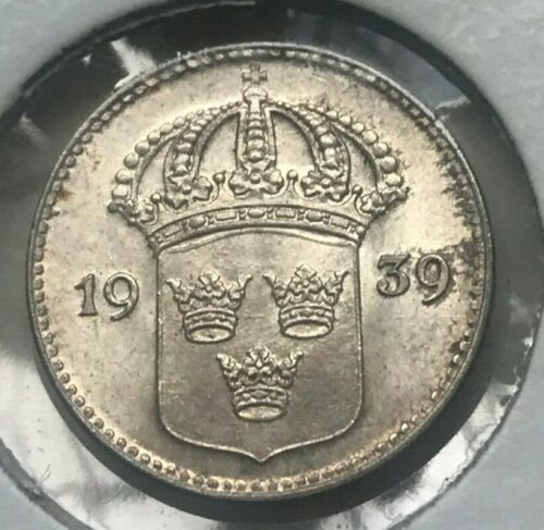 1939 Sweden 10 Ore - Beautiful Uncirculated