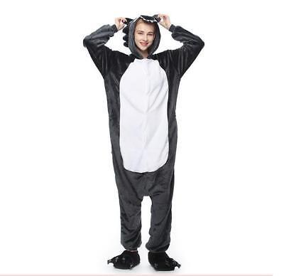 Unisex Onesie01Kigurumi Pajamas Anime Cosplay Costume Dress Sleepwear Wolf - Adult Wolf Onesie
