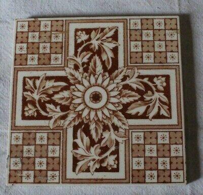 1809-1898 Victorian Treacle Glaze 6 x 6 Ceramic Tile William Gladstone British Prime Minister