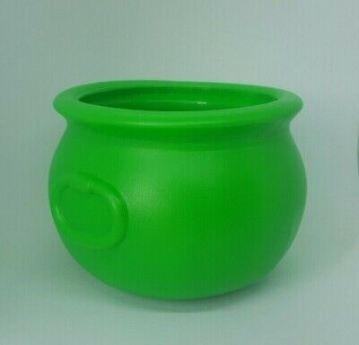 Vintage 1987 Union Products Blow Mold Halloween Green Witches' Cauldron