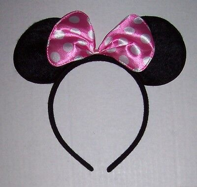 Minnie Mouse Halloween Costume For Adults (MINNIE MOUSE EARS Pink Bow HEADBAND Children Adults Halloween)