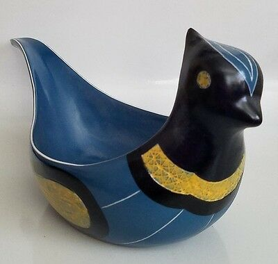 MID CENTURY JIE CANTOFTA SWEDEN LARGE BIRD BOWL - SWEDISH MODERN