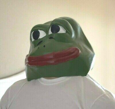 Pepe Frog Mask Latex - Halloween Cosplay Full Mask Costume