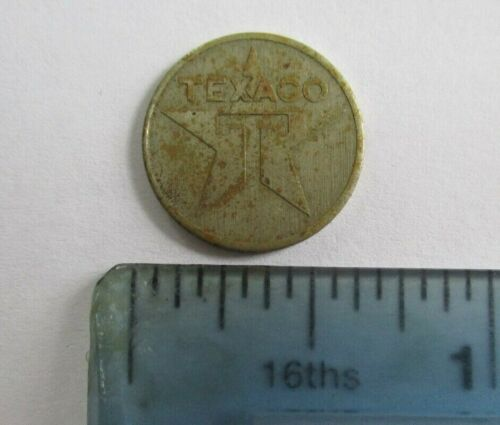 "Vintage Texaco Gas Gasoline Miniature Token? Coin? Star Design Very Small 5/8"""