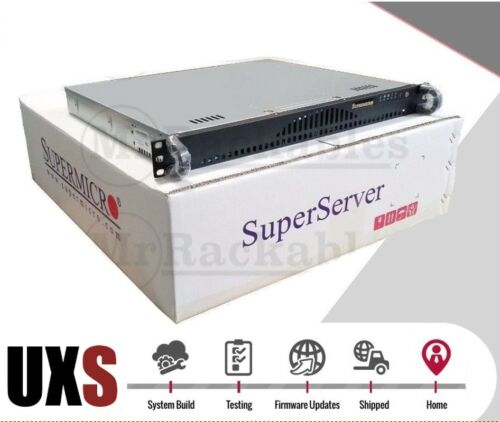 PFSENSE UXS Server 1U Open Source Router X8SIE-F X3450 Quad Core 8GB 2x 1GBE SSD