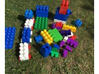 Big bundle of Megabloks ideal outdoor toy £3 for all collection from Shepshed.