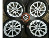 "16"" Genuine Volkswagen alloys, 3 SETS TO CHOOSE, excellent cond, premium tyres."