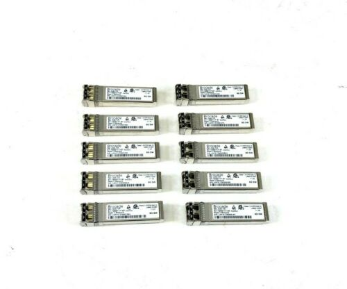 Lot Of 10 - Brocade 57-1000117-01 8gb Fc 850nm Sw Sfp+ Fiber Optic Transceiver