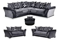 BIGGER AND BETTER SHANNON CORNER/3+2 SOFA THAN £350 AND £365 ORIGINAL NEW DFS FACTORY PACKAGED SOFA