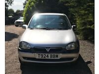 Vauxhall corsa SXI 16V new MOT, low mileage, drives perfect.