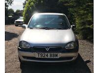 Vauxhall corsa SXI 16V new MOT, low mileage, drives perfect.