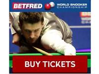 V.I.P World Snooker Championship tickets Final LAST 2 SESSION**